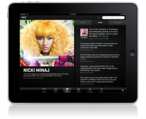 VEVO iPad app
