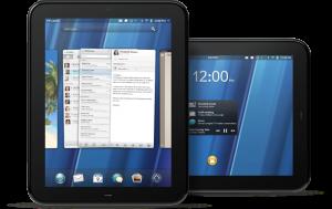 HP TouchPad:s gränssnitt