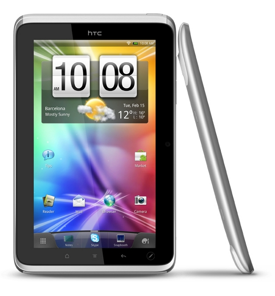 HTC Flyer silver vit
