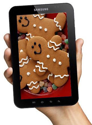 Samsung Galaxy Tab får en Gingerbread-uppdatering snart
