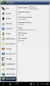 HTC Flyer Android 3.2 uppdatering
