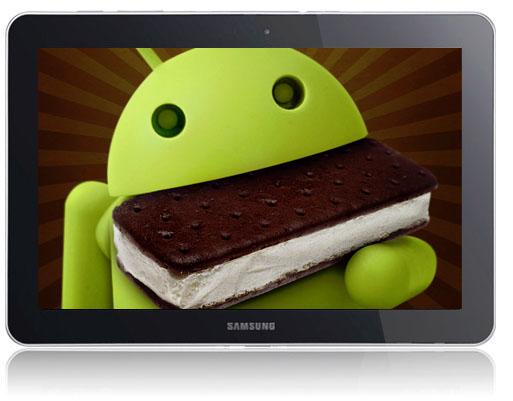 Samsung Galaxy Tab 10.1 får tillsammans med flera andra modeller i serien Android 4.0 Ice cream sandwich snart!
