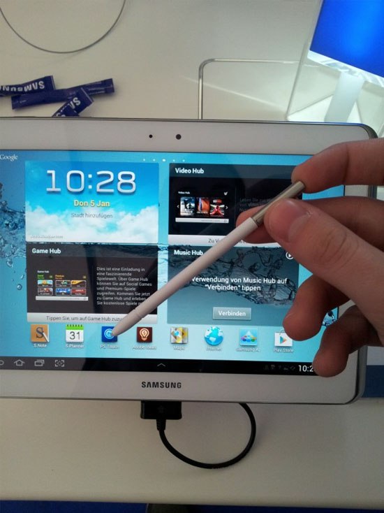 Samsung Galaxy Note 10.1 med ny S-Pen