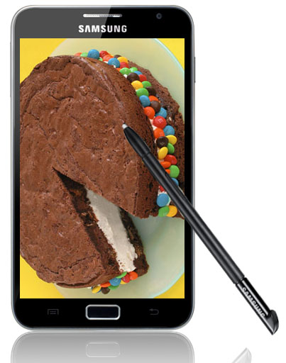 Samsung Galaxy Note får uppdatering till Ice cream sandwich i delar av Europa