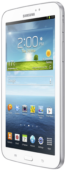 Samsung Galaxy Tab 3 Wi-Fi från sidan